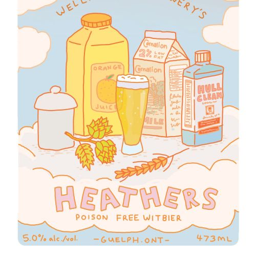 Advertising illustration of heathers drinks