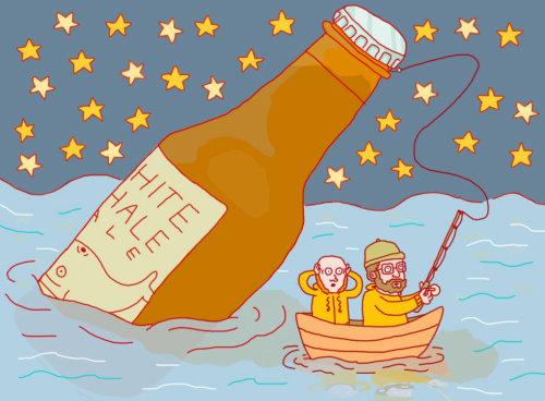 Pintura digital para Beer Advocate