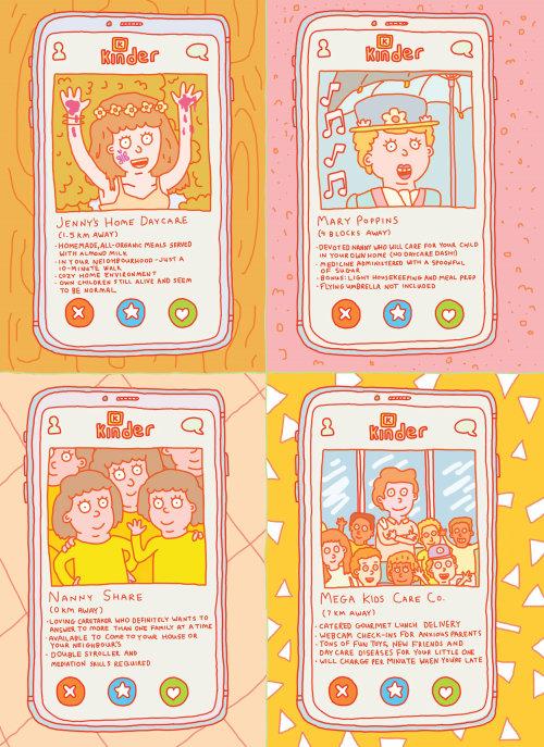 Ilustración de cuidado infantil