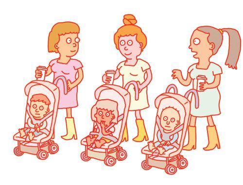 Ilustración digital del cuidador de niños.