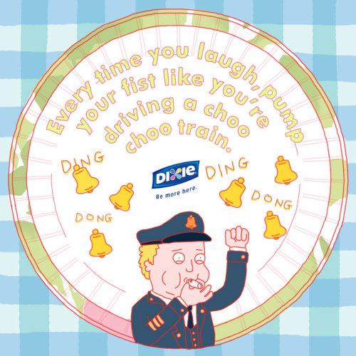 Ilustración publicitaria Dixie