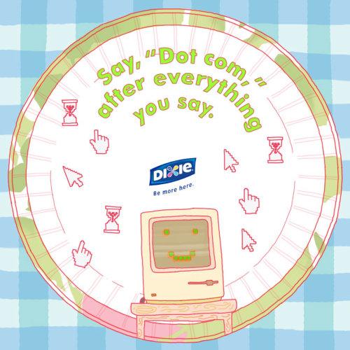 Illustration publicitaire de dot com