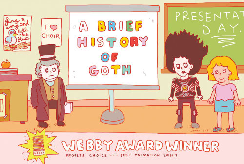 Illustration of a brief history of goth