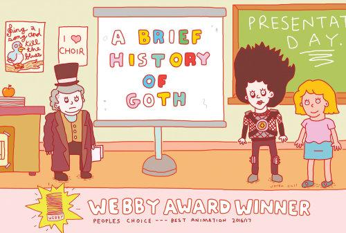 Ilustración de una breve historia del goth