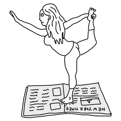 Line art of girl exercise
