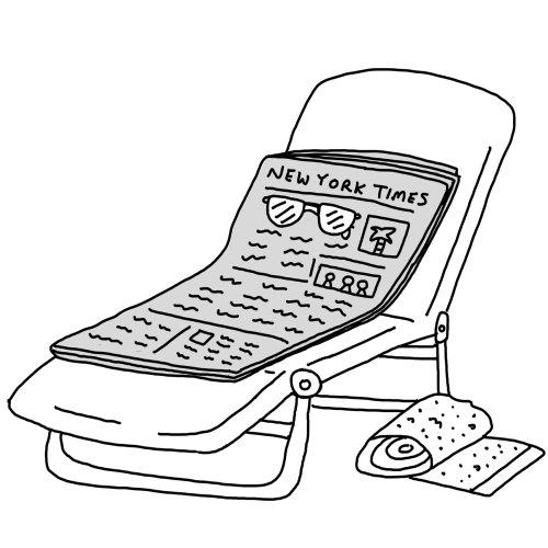 Illustration de ligne de chaise longue