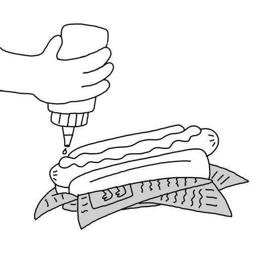 Burger line illustration