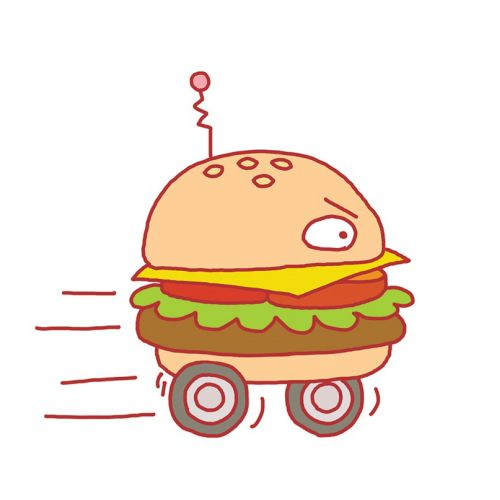 Illustration for an article about competing fast-food burger chains