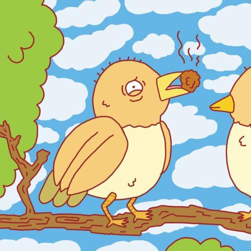 Graphic design of birdes love