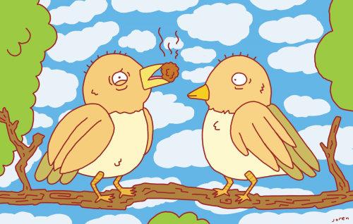 Conception graphique de l'amour des oiseaux