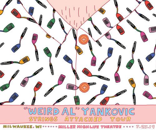 Illustration d'affiche de concert pour la tournée Weird Al's String Attached