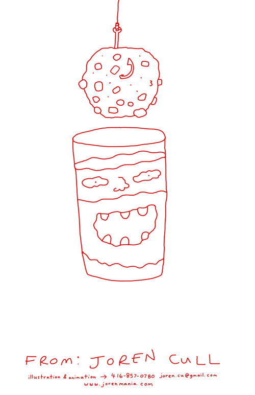 Line comic art of tea cup