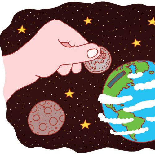 "Illustration for an article discussing corporation's ""environmental funds""."