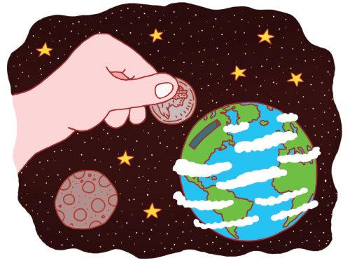 """Ilustración para un artículo sobre los """"fondos ambientales"""" de la corporación."""