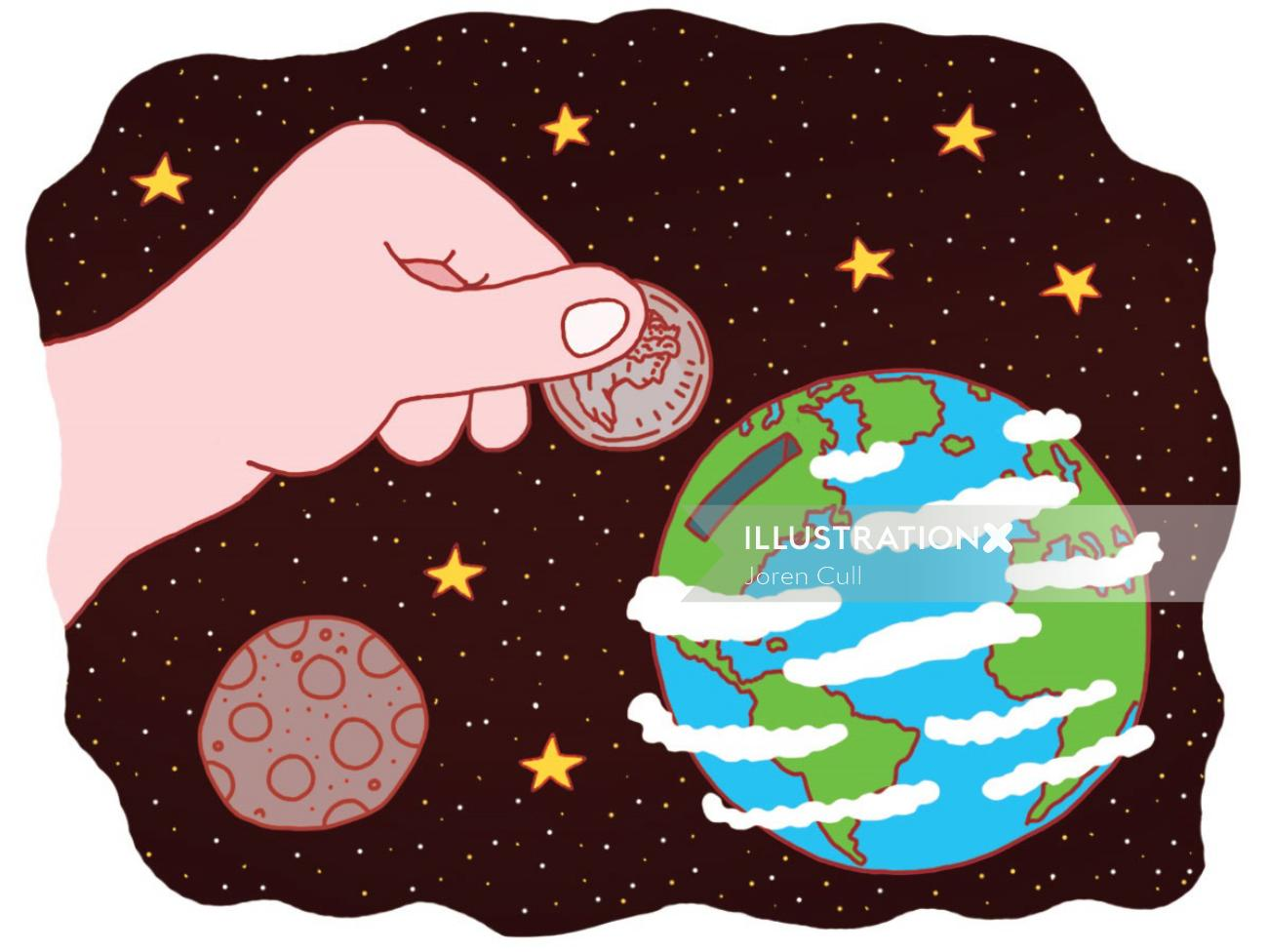 """Illustration for an article discussing corporation's """"environmental funds""""."""