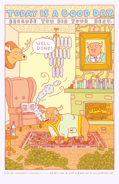 Ilustración para la industria secreta de mil millones de dólares del semen de toro canadiense.