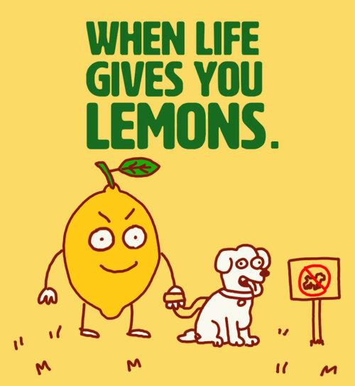Animación gif publicitaria para limonada