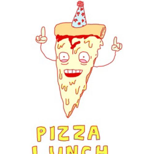 Gif animation of pizza lunch