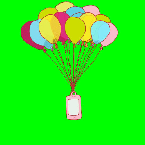 Gif animation of phone gift