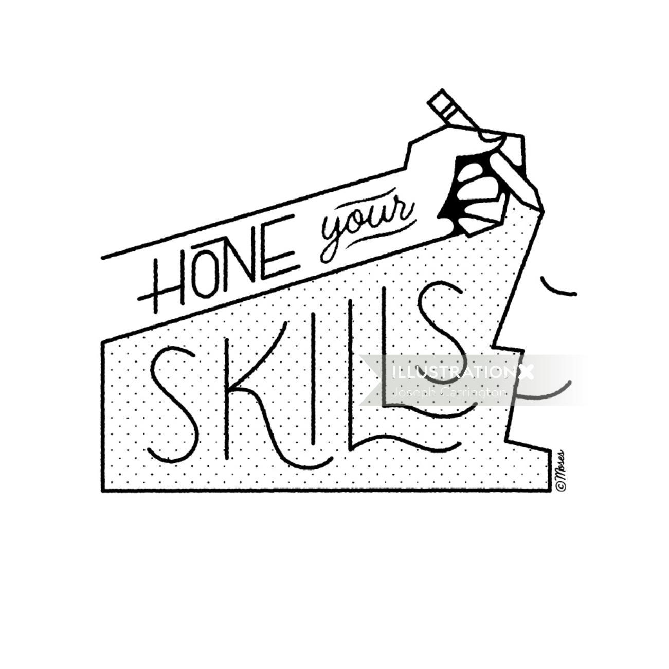 Lettering art of hone your skills