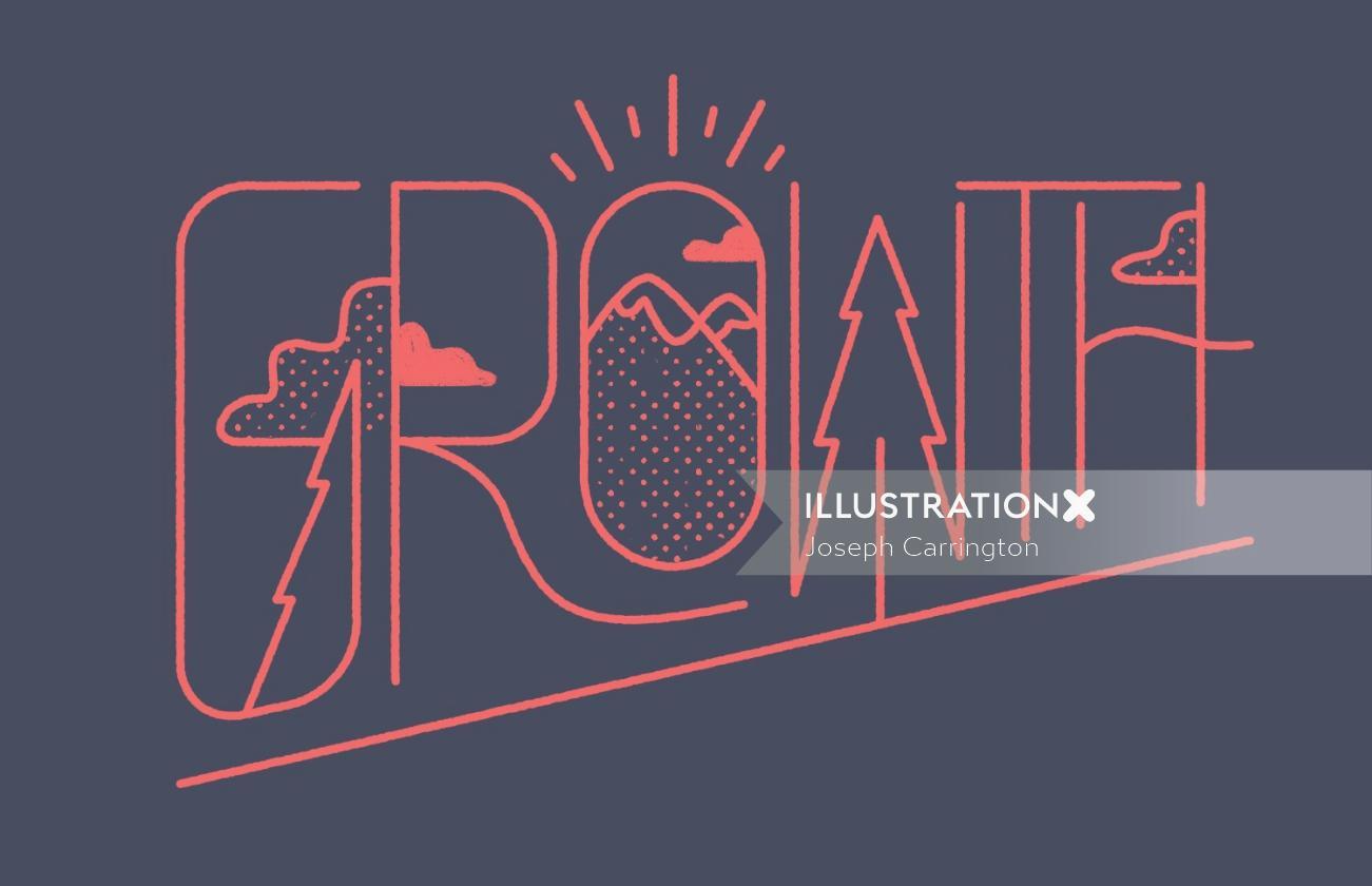 Growth typography by Joseph Carrington
