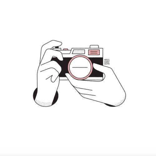 animation of camera click