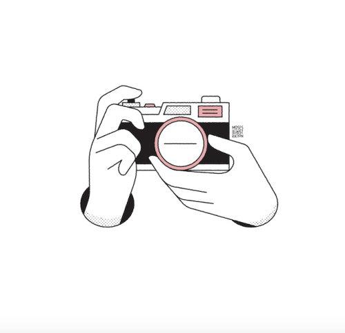 animação do clique da câmera