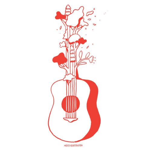 Ilustração da natureza da guitarra