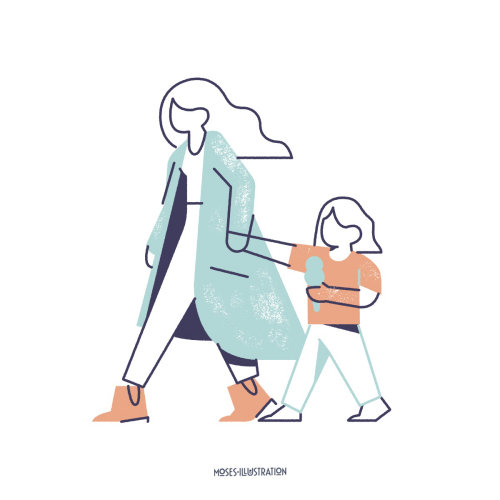 Estilo de vida de mulher com criança