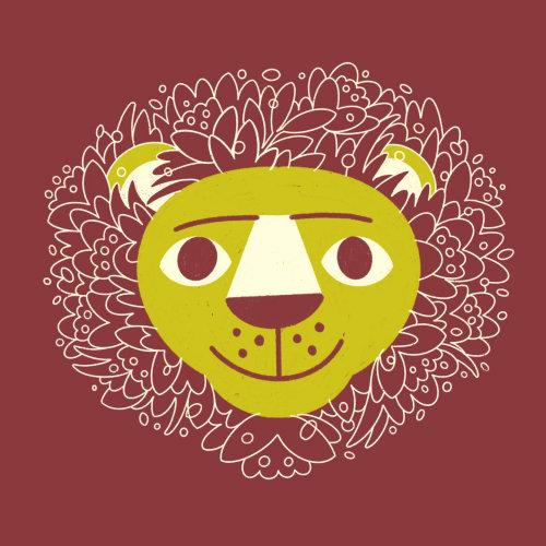 Rosto de leão gráfico