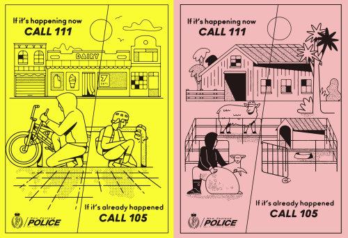 Folheto da polícia de desenhos animados e humor