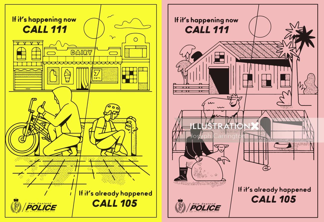 Cartoon & Humour Police flyer