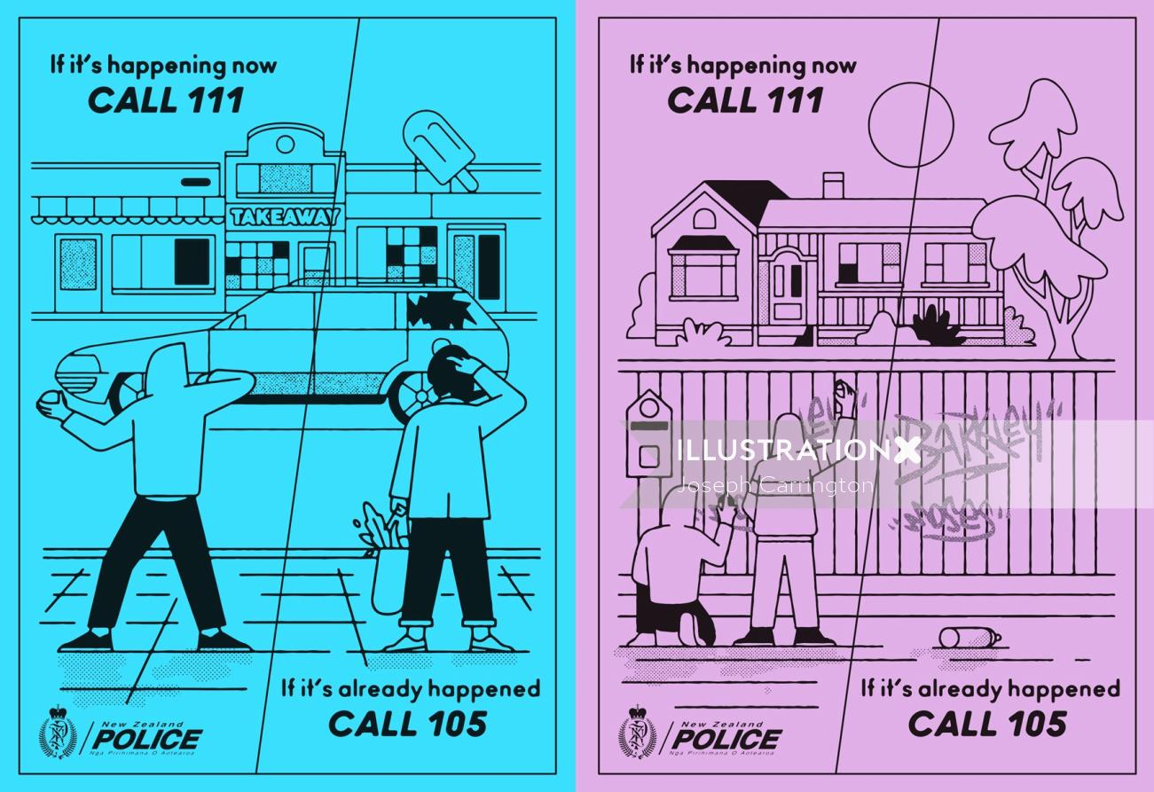 Cartoon & Humour flyer call 105