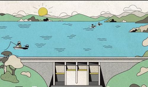 Vídeo de animação de economizar água