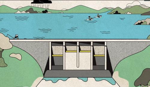 animação vídeo seq água