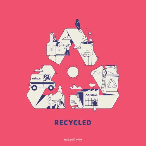 Arte de linha reciclada