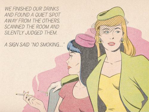 Illustrtion of no smoking poster