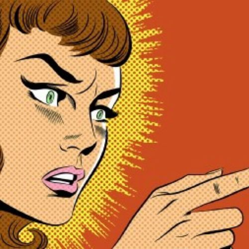 Illustration of angry woman
