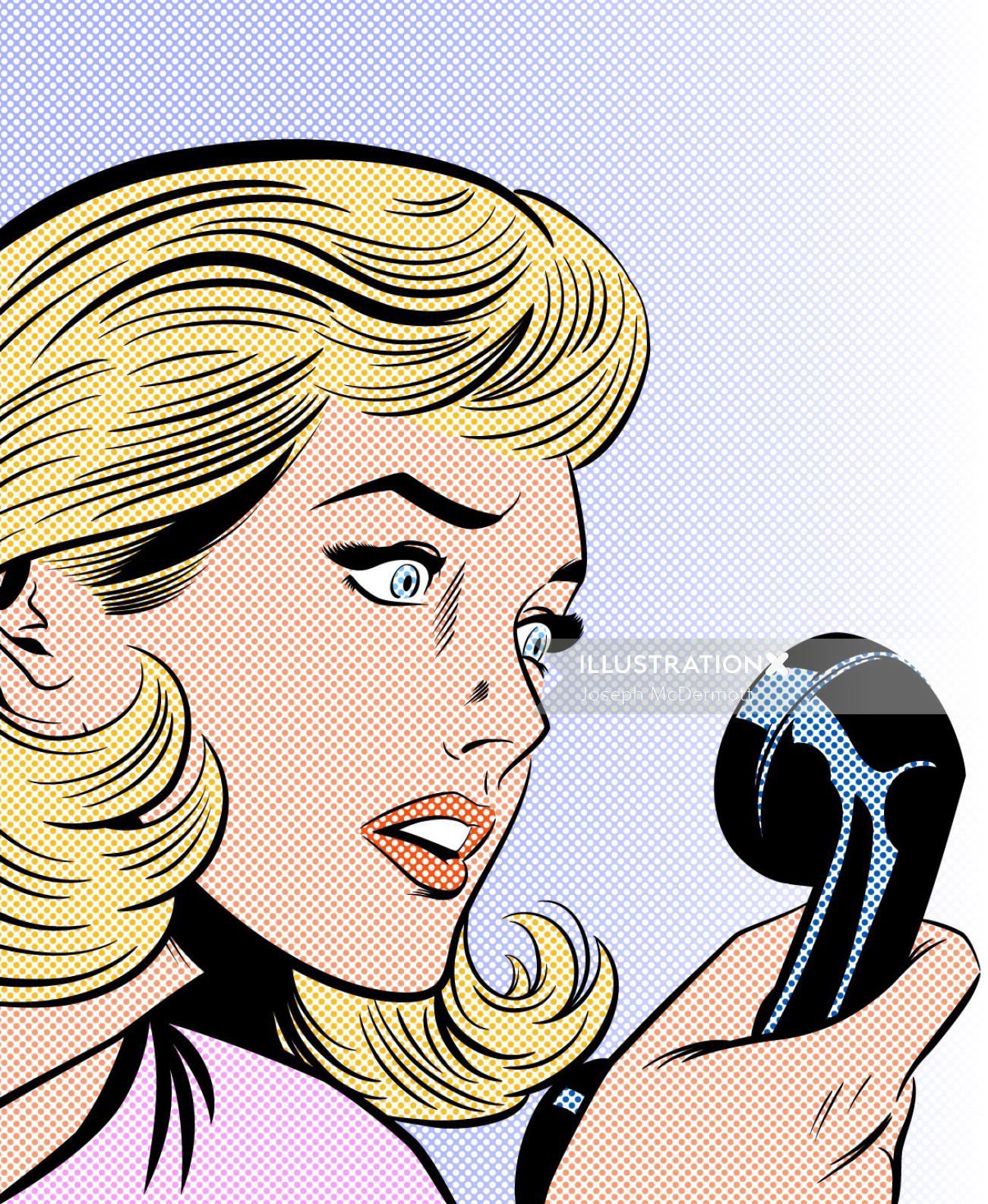 surprised Girl on telephone