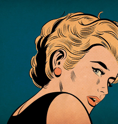 Illustration of vintage woman