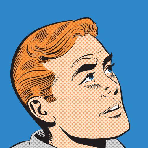 Surprised Pop Art Man