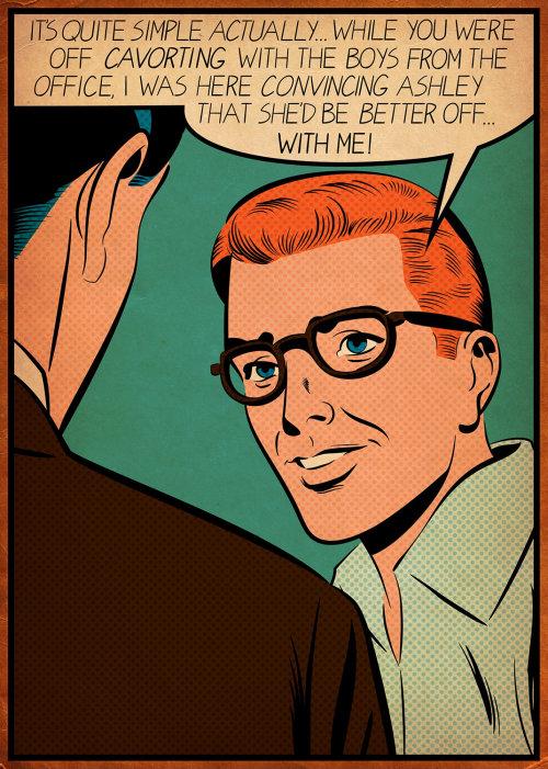 Retro Illustration of people's conversation