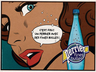 Illustration for Perrier Ad