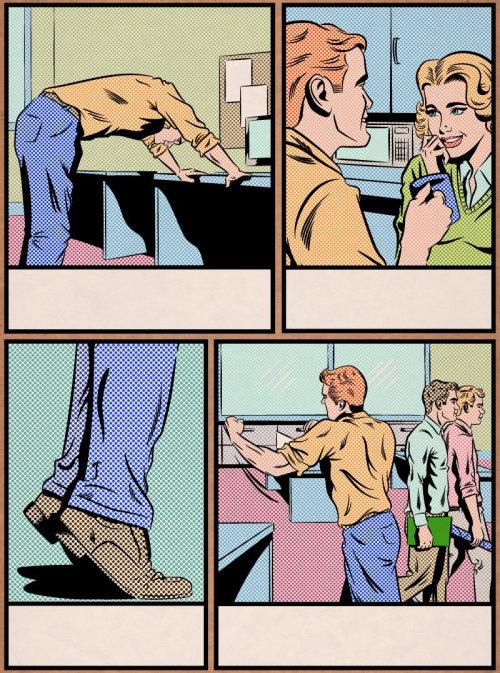 People comic illustration