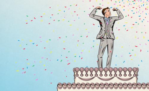 Illustration of successful man