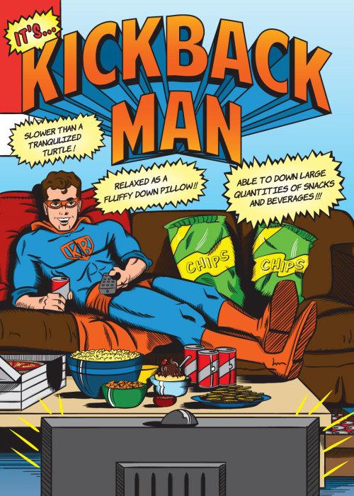 Kickback man comic artwork