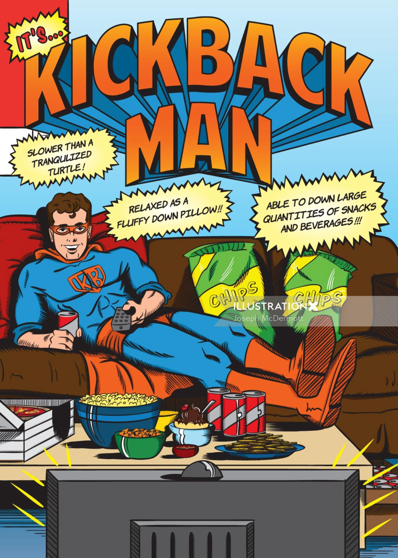 Kickback man comic artwork