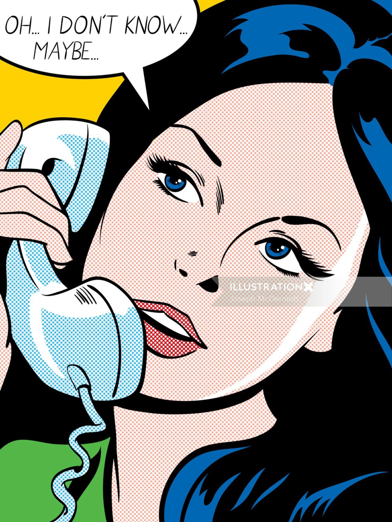 Illustration of conversational comic