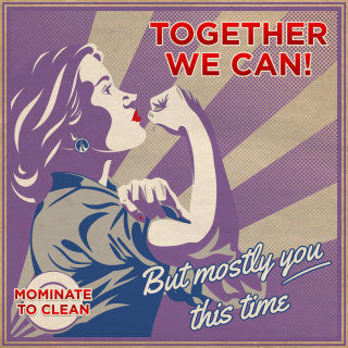 Together we can poster for woman