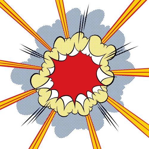 Explosion art by Joseph McDermott